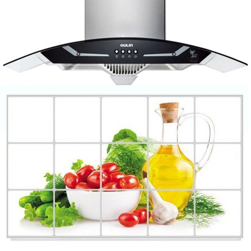 Drop Ship 75cm*45cm Various Korea High-grade Aluminum Copper Waterproof And Oil Sticker Kitchen Wall Stickers For Home Decor