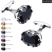 Wholesale Custom Luxury Multi Colors Zircon Cufflinks For French Shirt Jewelry Accessories with Box