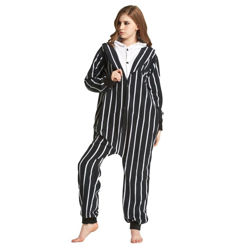 Jack Skeleton Cartoon Polar Fleece Skull Kigurumi Onesie Women Pajamas Men Adult Bodysuit Sleepwear For Winter Halloween Costume (5)