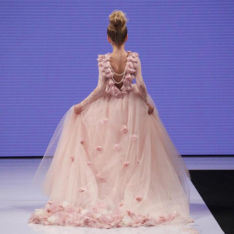 Venta caliente Encantadora Niña Vestido de Flores 2016 Blush Pink ...