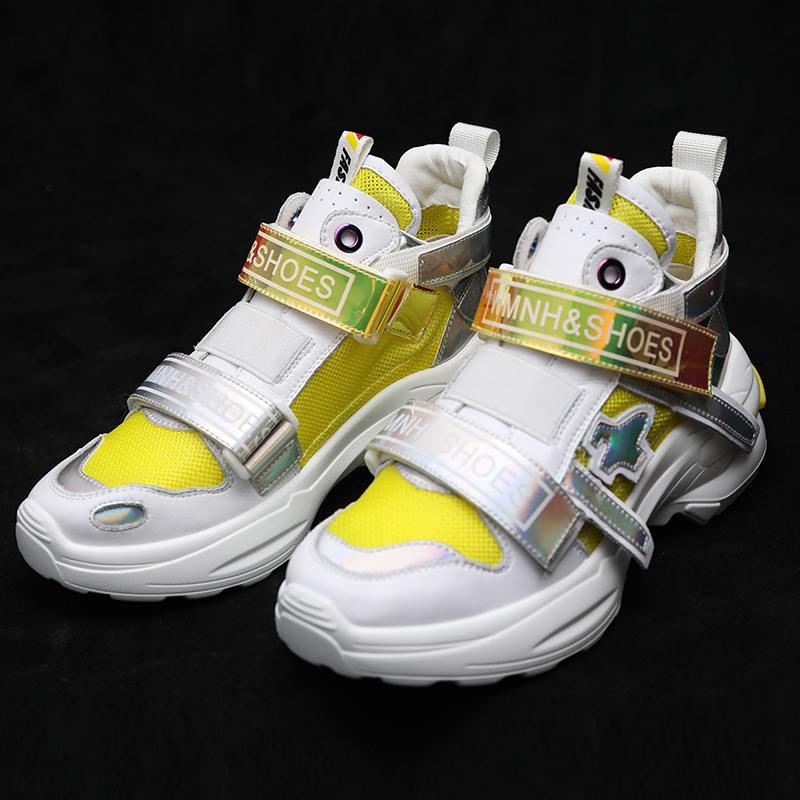 De Hechos Rosado Pie Tamaño Z Vulcanizados Zapatos Fondo Zapatillas Dedo Mujeres Malla amarillo Las Aire Los Grueso Redondo Plataforma Aumentaron Verano Casual Del Mano Deporte A Gran tXw4Ut