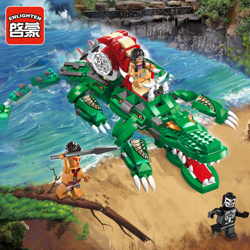 Enlightenment Educational Pirate Jungle Adventure Block Toy Boy Child Gift Compatible Legoe t3184b educational toy coin slide chip game toy playing toy set