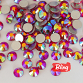 All Sizes Light Siam AB Non Hotfix Rhinestones Flatback Glass Crystal Rhinestone Nail Art For Nails Decorations H0052