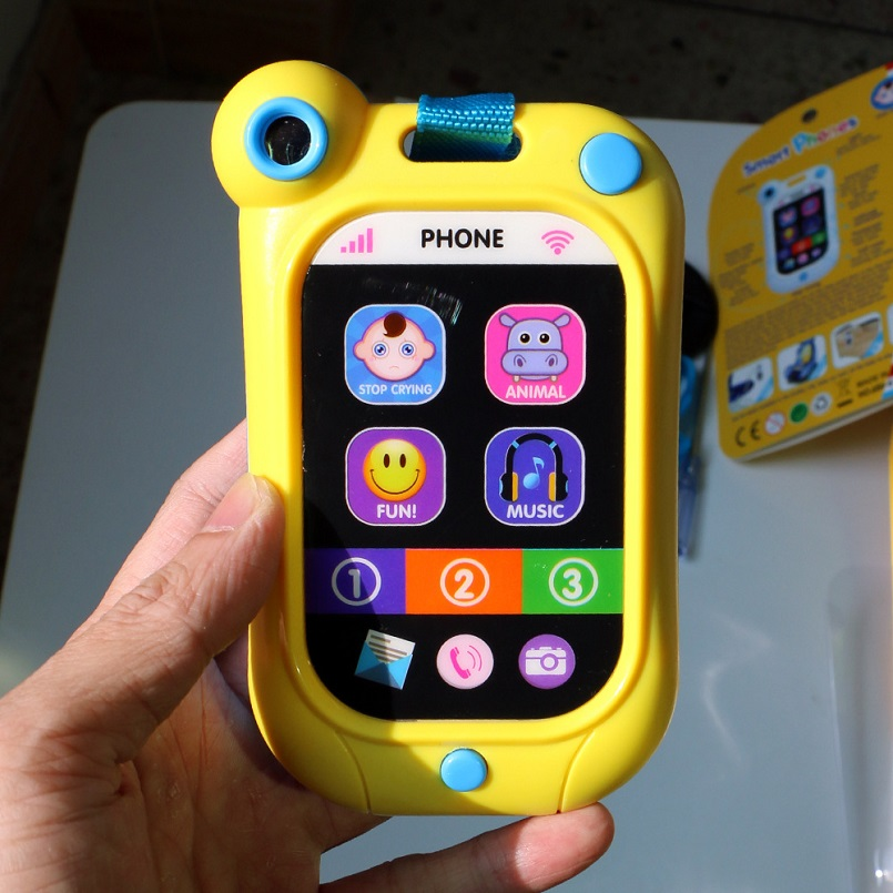 English Children's smart educational toy mobile phone Phone For Kids Baby Mobile elephone