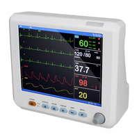 8 Inch ICU CCU Vital Sign Patient Monitor 6 parameter ECG NIBP RESP TEMP SPO2 PR Health Care Blood Pressure
