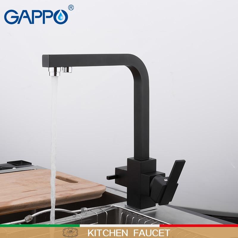 GAPPO Kitchen faucet black kitchen mixers sink faucet gappo taps faucet mixer water faucets for kitchen basin tap set смеситель gappo g3261