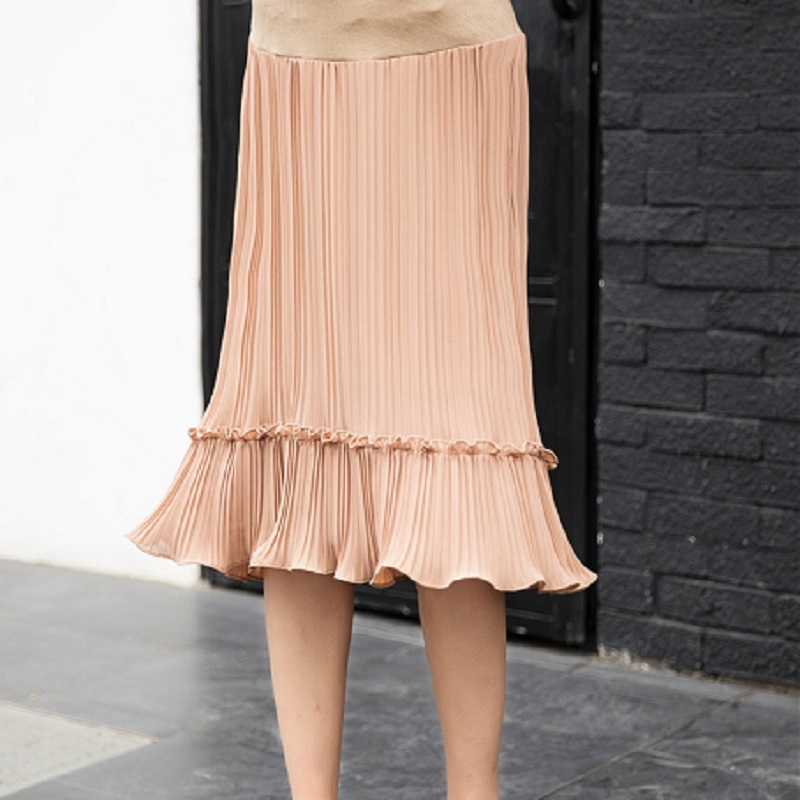Spring Autumn Summer Abnominal Lift Skirt For Women In Maternity In Style Of Chiffon Mermaid In Prenatal And Postnatal Period