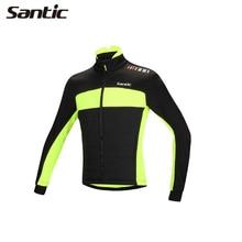 Santic Mâle Montagne Vélo D'équitation de Sport Hommes Coupe-Vent Polaire Plein À Manches Longues Vestes Thermique Hiver Chaud En Plein Air Jersey