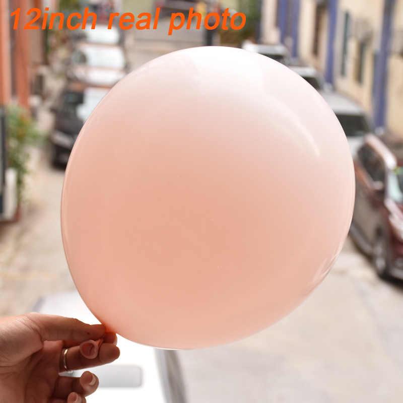 Balões gigantes redondos de pêssego, balões de 5/6/7 polegadas jumbo macaron pastel decoração de fotografia