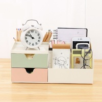 HQ Color Drawer Girl Desktop Storage Box Creative Cosmetics Finishing Plastic Simple Desk Office Stationery Box