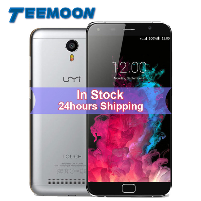 Umi Touch Smartphone Android 6.0 MTK6753 Octa Core Mobile Phone 5.5inch Screen 3GB RAM16GB ROM 4000mAH Fingerprint 4G Cell Phone