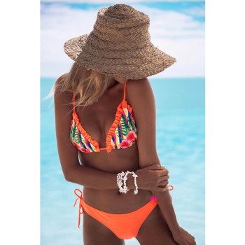 LI-FI Ruffle Back Bikini Swimsuit 4