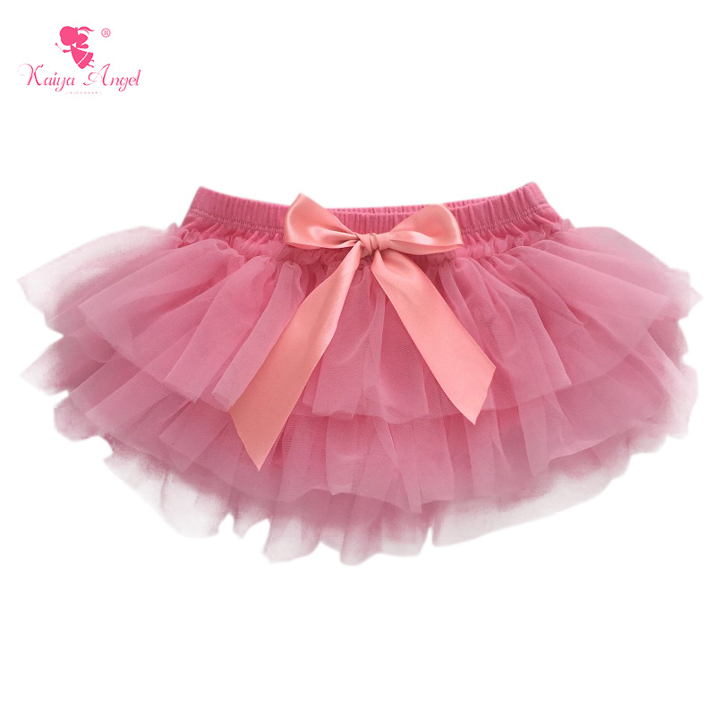 5PCS Newborn Baby Bloomers Girls Cotton Ruffle Chiffon Diaper Cover Summer Tutu Ruffled Panties Baby Girls Infant Baby Shorts