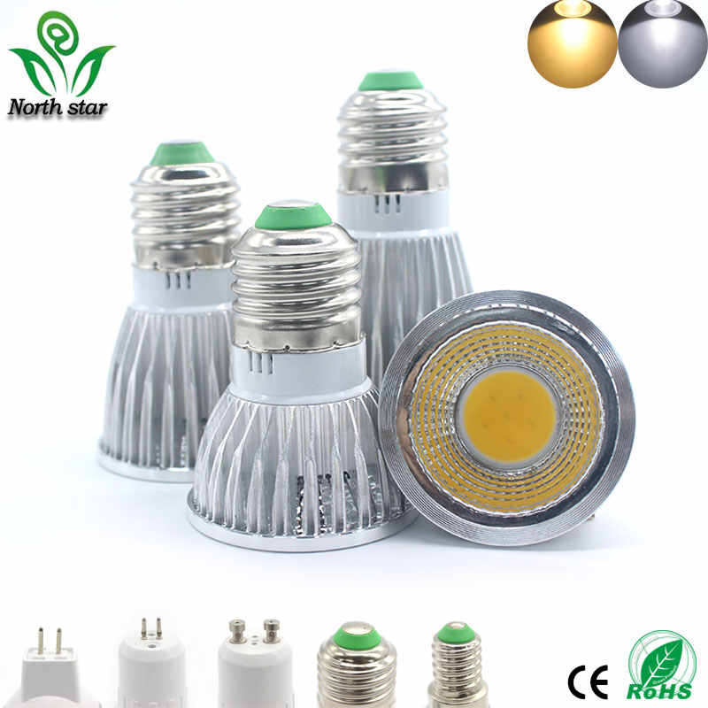 High power  E27 E14 GU53 MR16 LED COB Spotlight Dimmable 9w 12w 15w Spot Light Bulb DC12V or AC85-265V