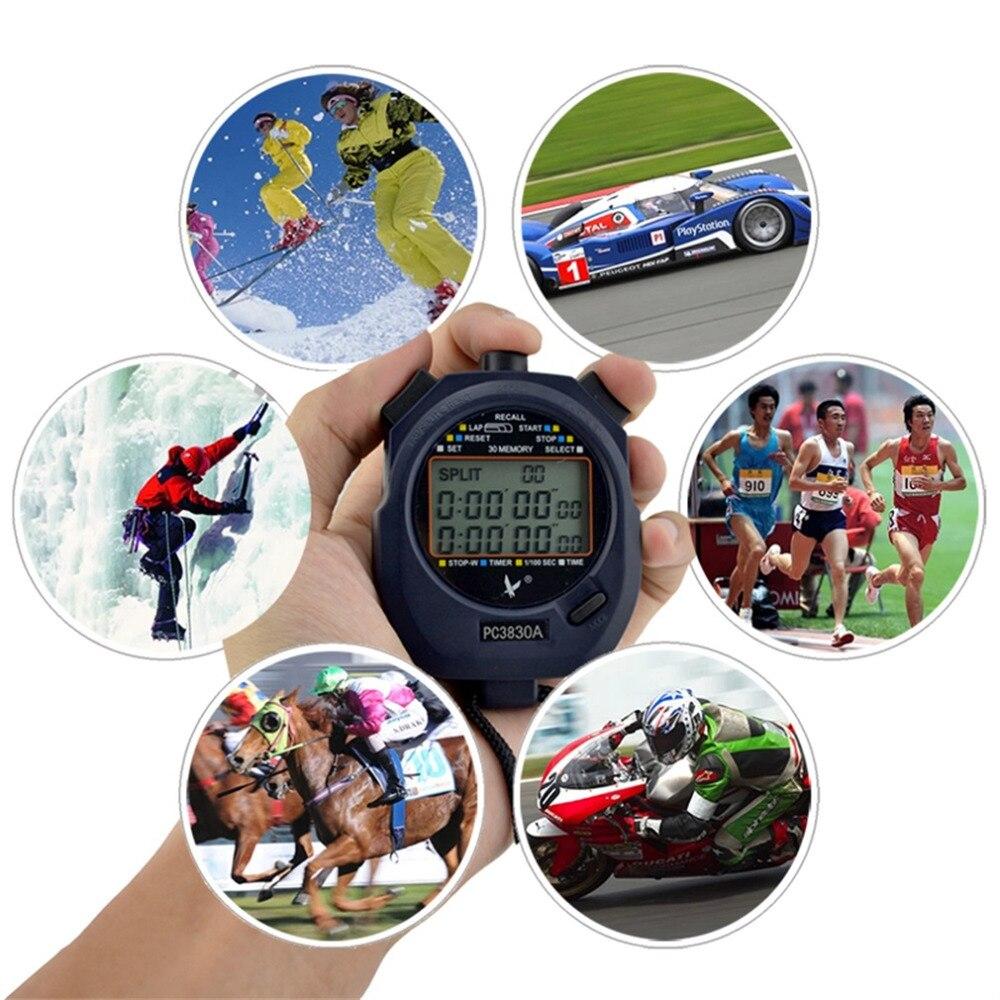 SAUT PC3830A Professionnel Chronomètre Grand-écran Numérique LCD Chronographe Temporisateur Compteur avec 3 Rangée 30 Souvenirs Chronomètre