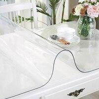 Livia событие Tex 2 мм thicknessPVC мягкая стеклянная скатерть водостойкая анти глажка прозрачный стол pad резиновая