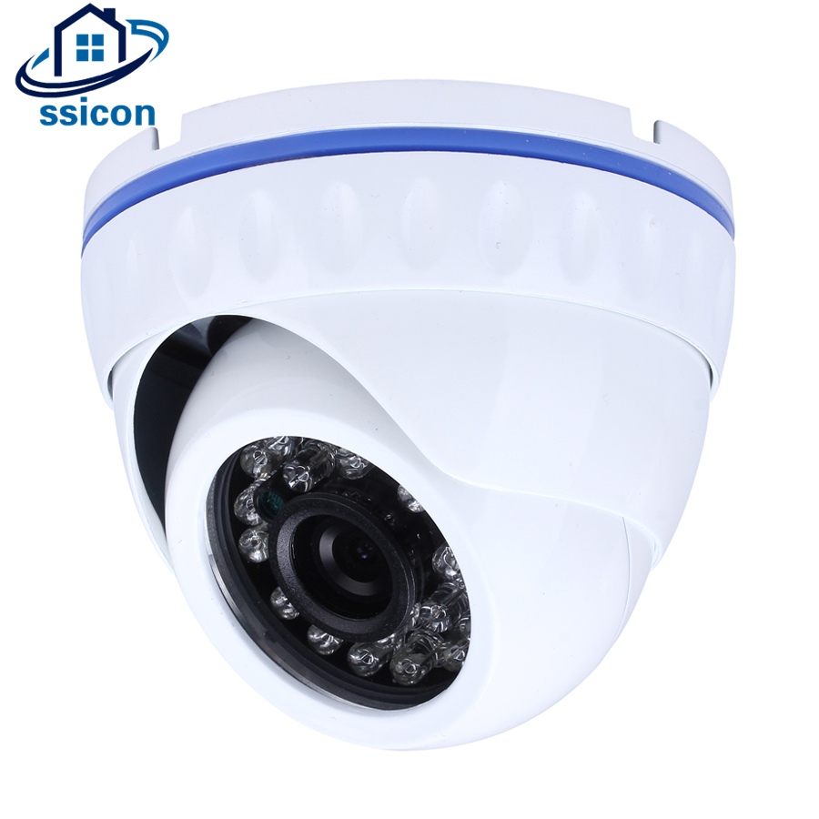 SSICON Vandalproof Home Indoor H264 IP Network CCTV Camera 20M IR ONVIF P2P Surveillance Dome Camera with 24Pcs Led Lights sucam 2mp 4mp dome h265 ip cctv camera home indoor 20m night vision security p2p onvif surveillance cameras with 6 led lights