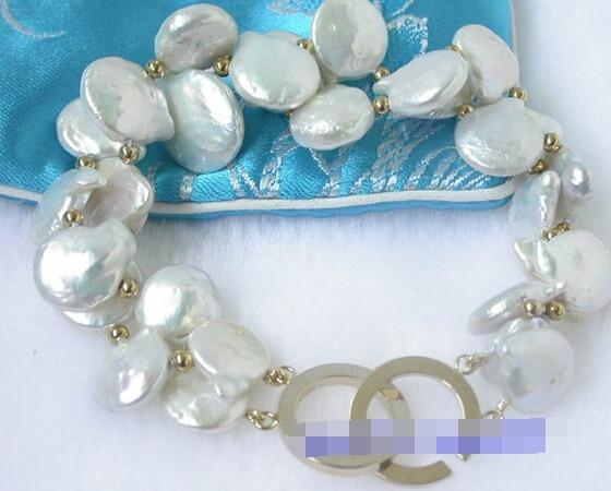 Vente chaude >@@> 09761 papillon blanc coin FW perles bracelets-Mariée bijoux livraison gratuite