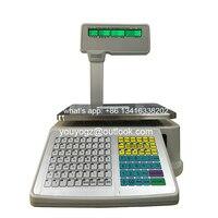 TM A 2012 цифровой Цена вычислений электронный баланс и принтер штрих кодов для розничной торговли печати этикеток детские весы Английский/Ара