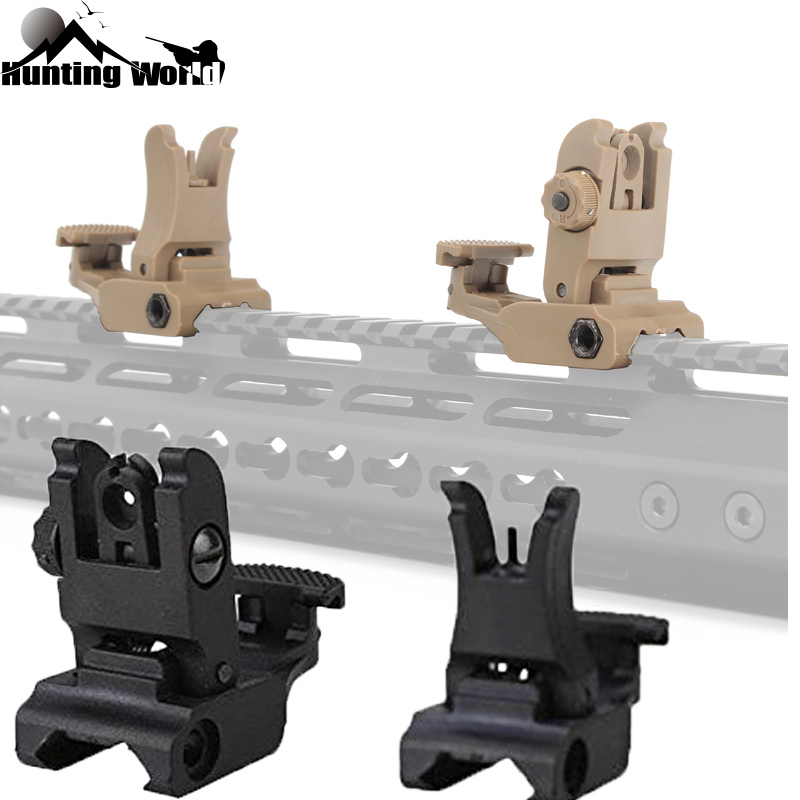 Tactical Hunting Folding Plastic Iron Sight Battle Sight Rapid Backup Front Rear Iron Sight Set For Airsoft Toy BB Gun Rifle