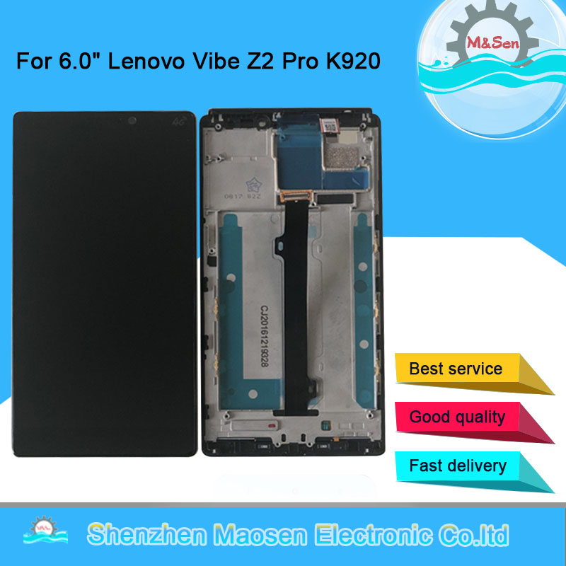 """Original M&Sen For 6.0"""" Lenovo K920 Vibe Z2 Pro LCD Screen Display Frame+Touch Panel Digitizer For Lenovo K920 Display Assembly-in Mobile Phone LCD Screens from Cellphones & Telecommunications"""