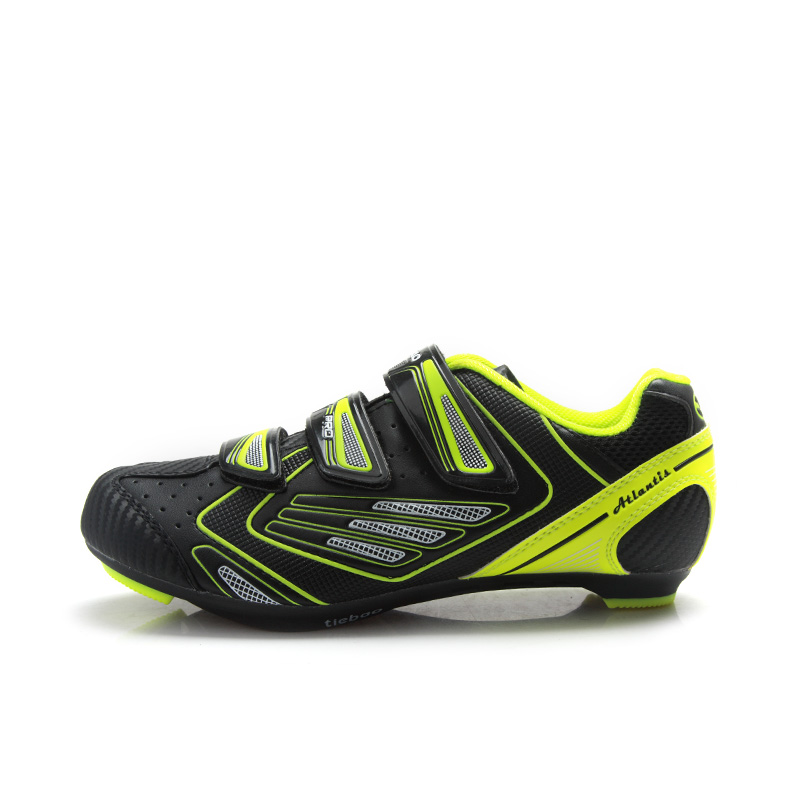 tiebao r1521 outdoor road bicycle shoes indoor training spd cycling shoes spinning class road. Black Bedroom Furniture Sets. Home Design Ideas
