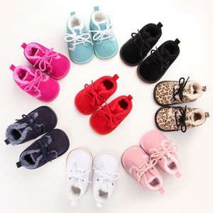 Shoes Toddler Prewalker-Boots Crib Newborn Infant Baby-Boy-Girl Winter Lace-Up