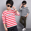 Children Clothes Boys T Shirt 5 6 7 8 9 10 11 12 13  14 15t  Spring Boys T Shirt Long Sleeve Striped Boys Tops Casual Clothes