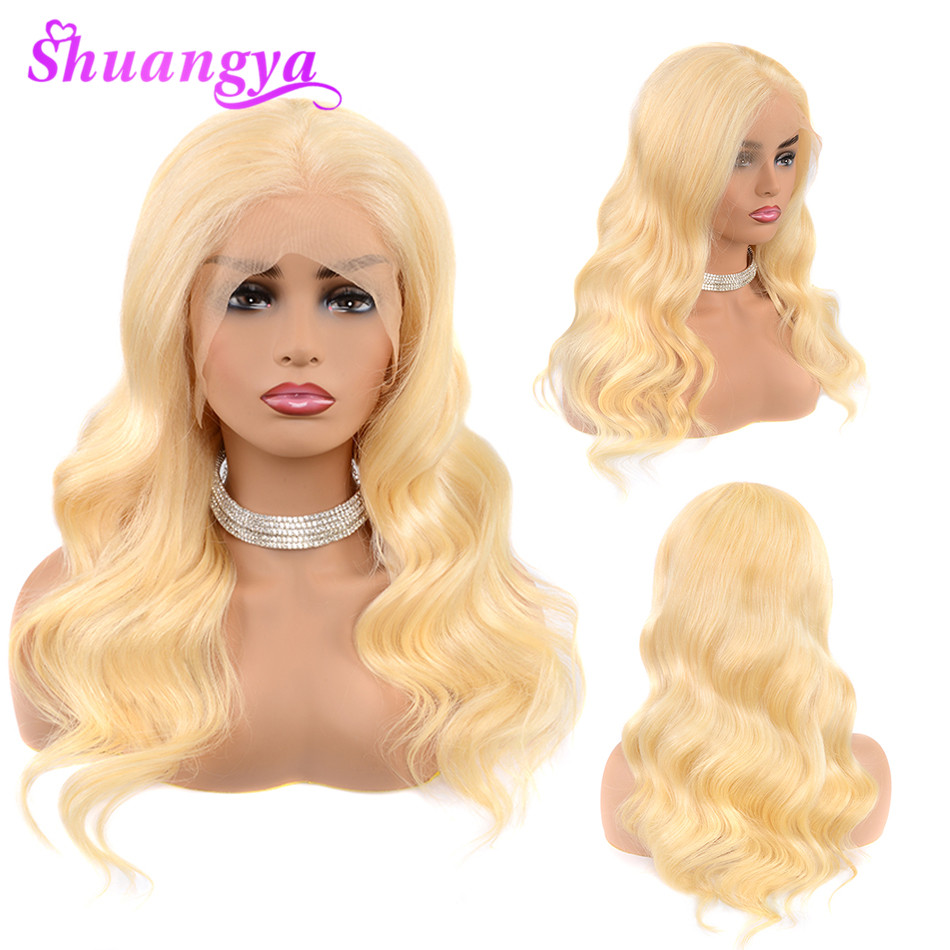 613 Honey Blonde Pre plucked Brazilian Wig Remy Hair Body Wave Wig Glueless Lace Front Human Hair Wigs for Black Women Shuangya image