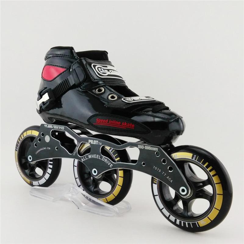 017c75a073d15 Adult Professional Roller Skates Children Inline Mens Speed Skates Patins  Roller Round Cake 3 Wheel Inline