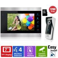 YSECU Luxury Door Phone 7 Inch TFT Monitor LCD Color Video DoorPhone Intercom 16GB SD Card