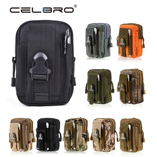d3bc126f03 Universal Outdoor Tactical Holster Military Molle Hip Waist Belt Bag Wallet Pouch  Purse Zipper Phone Case