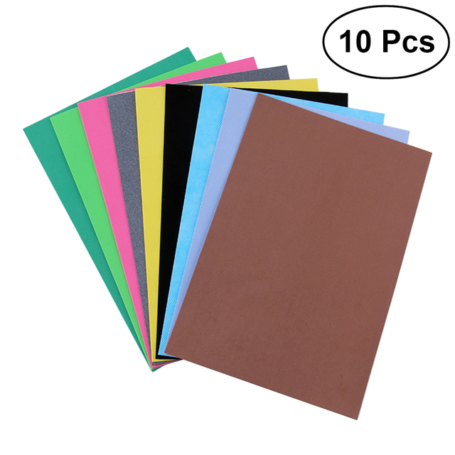 10 PCS Funky EVA Foam Sheets Self adhesive Sheet Sponge Paper ...