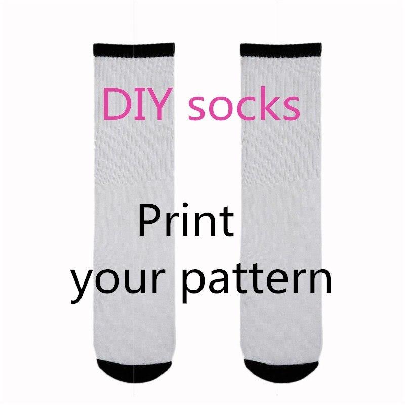 Hot Factory Custom Face Socks Fashion DIY 3D Print Logo Design Long Socks Men Women Casual Cotton Gift Long Sock Free Shipping