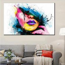 Fashion Wall Art Canvas Painting Modern Women Face Picture Abstract Figures Oil For Home Decor