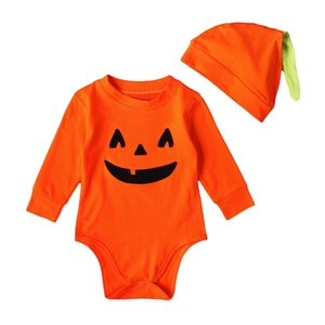 Baby Boy Girls Clothing Sets Newborn Baby Lovely Printed Romper Hat 2pcs Halloween Outfits