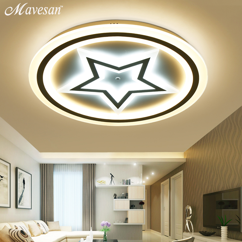 Remote Modern LED Ceiling Lights Fixture For Bedroom Dining Room Acrylic Lampshade Dimmable For 15-30 Meters Lamparas De Techo цена