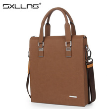 Sxllns Brand Handbag Men Shoulder Bags Briefcases Tote Bag Men's Messenger Bag Casual Vintage Travel Bag Free Shipping