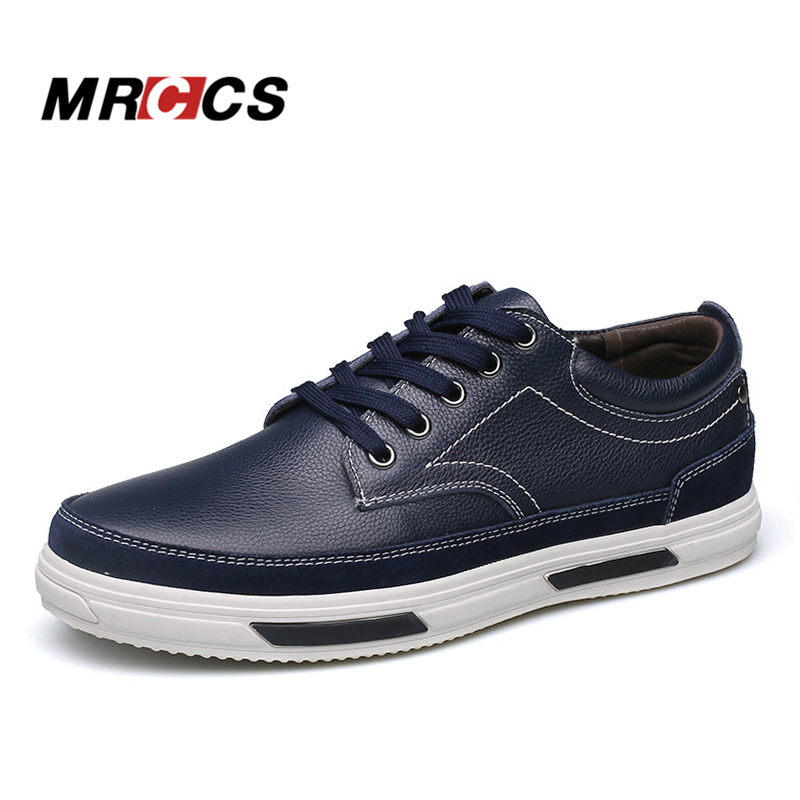 MRCCS Urban Style Solid Leather Casual Shoes For Men,Waterproof Platform Lace Up Shoe,All Match Blue/Black Male Fashion Style бойко е вкусные салаты для праздничного стола