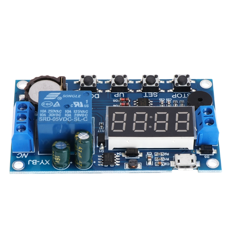 Trigger Cycle Timer Delay Switch 12V 24V Relay Switch Module 24H Timing Control dc 5v multifunction self lock relay plc cycle timer module delay time switch