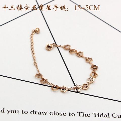 Популярные ювелирные изделия браслет из титановой стали и розового