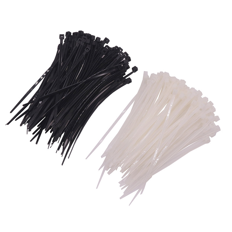 100 Pcs Nylon Cable Ties Self-locking Nylon Cable Ties White Black Two Optional Length 10cm Computer Line Bundles  ...