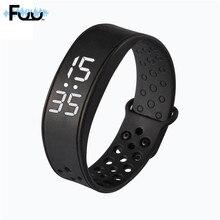 Спортивные часы Smart Браслет наручные часы W6 со временем Дисплей Шагомер сна монитор фитнес трек здоровья 3D Смарт Группа Браслет