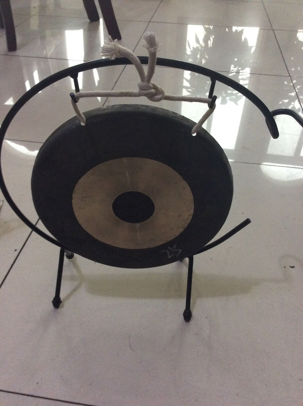 Handmade Chinese 30cm Chau Gong With Stand