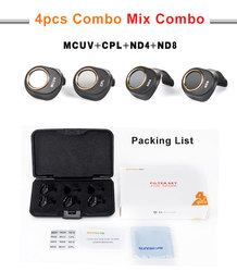 4 IN 1Lens Filter ND4 ND8 UV CPL Lens Filter For DJI SPARK Camera Drone Light Weight Gimbal Camera Filter Spare Parts