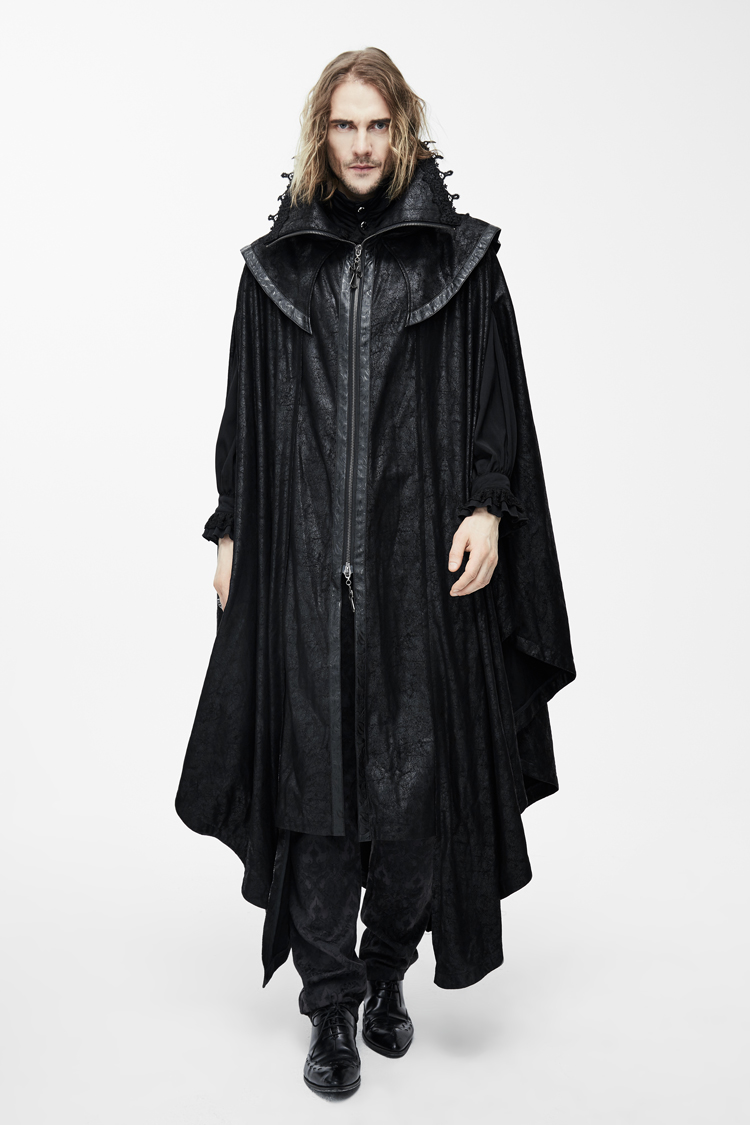 Gothic Steampunk Devil Halloween Coat Men Fashion Punk Long xUwAYqZw4