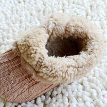 HOT SALE  Infant Baby Crochet/Knit Fleece Boots Toddler Girl Wool Snow Crib Shoes Booties-Khaki M