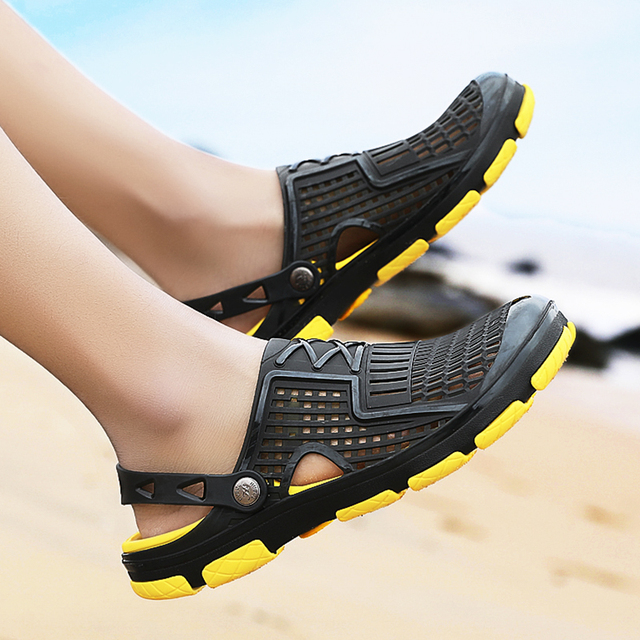 Men's Multicolor PVC Slip-On Sandals