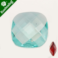12*12MM lake blue Square Semi-Precious Gemstone,double-faceted,imitate gemstones,Cut Cabochon,thick is 5mm,sold 20PCS per lot