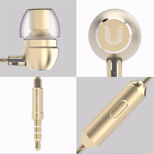 100% Original UiiSii HM7 Metal In-ear Earphone Super Bass DJ Stereo music Headset with Mic  3.5mm for iPhone /xiaomi Phone PC 3